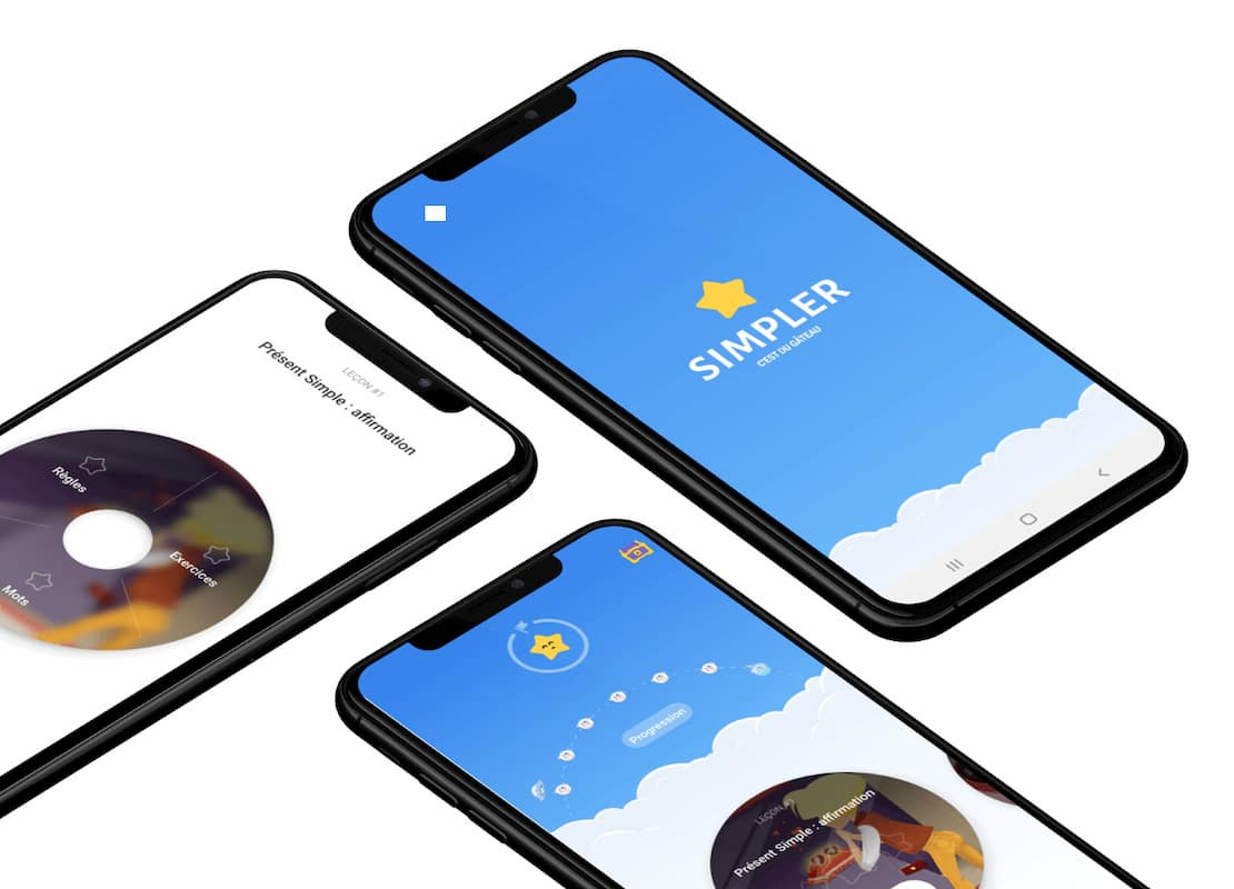 Visuel app mobile Simpler