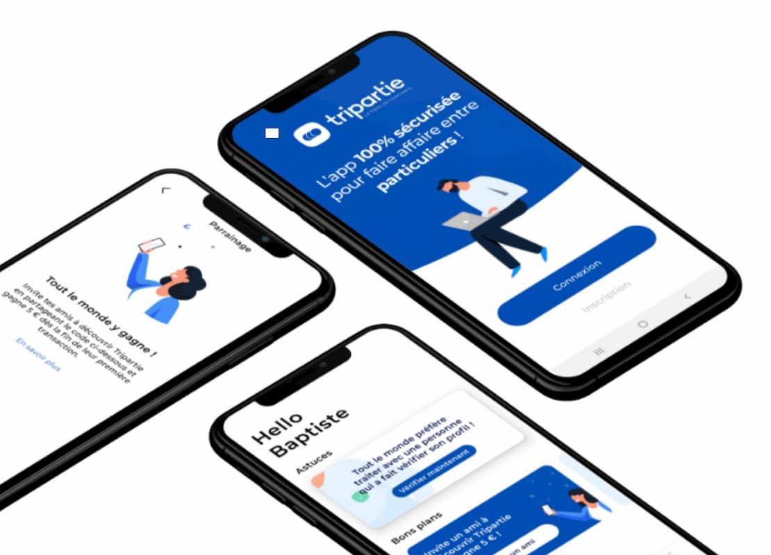 Visuel app mobile Tripartie